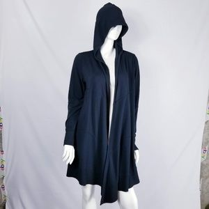 Cabi Open Front Hooded Cardigan Sweater Sz M Black